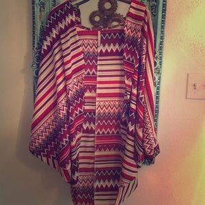 Tops - Aztec Flowy Kimono